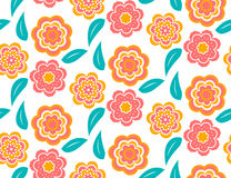 Seamless spring flower pattern on white background. Seamless spring flower pattern on white background Stock Photography