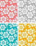 Seamless spring flower patterns. Set of seamless spring flower patterns. four colors stock illustration