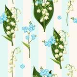 Seamless spring flowers Stock Photo