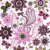 Seamless spring vintage pattern Stock Image