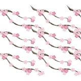 Seamless spring painting pattern branch tree with pink flowers Stock Images