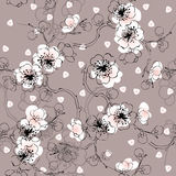 Seamless spring pattern vector illustration