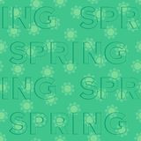 Seamless spring pattern Royalty Free Stock Photo