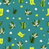 Seamless spring pattern Royalty Free Stock Image