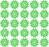 Seamless spring pattern. green abstract flowers on white. Royalty Free Stock Photos