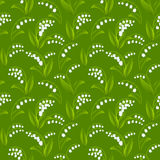 Seamless spring pattern with lilies of the valley Royalty Free Stock Photo