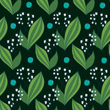 Seamless spring pattern, lilies of the valley Royalty Free Stock Photography