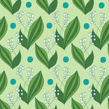 Seamless spring pattern, lilies of the valley Stock Photo