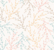 Seamless spring pattern with plants (Vector). Royalty Free Stock Photos