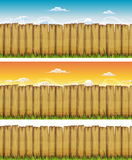 Seamless Spring Or Summer Wood Fence Stock Image
