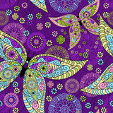 Seamless spring violet pattern Stock Images