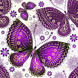 Seamless Spring White Pattern Royalty Free Stock Photos