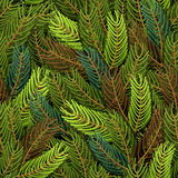 Seamless spruce pattern. Military background. Army structure fro Stock Photo