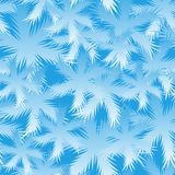Seamless Spruce Snowflake Pattern royalty free stock photos