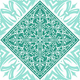 Seamless Square Abstract Tribal Pattern. Hand Drawn Ethnic Text. Ure stock illustration