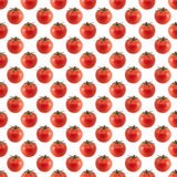 Seamless square background with a picture of tomatoes. Royalty Free Stock Images