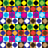Seamless square color pattern Stock Photos