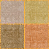 Seamless square composition.Linen textures. Royalty Free Stock Photo