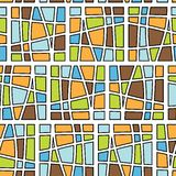 Seamless square pattern. Square pattern in fashion trend colors Stock Photos