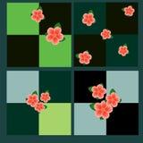 Seamless square patterns Stock Image