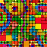 Seamless Square Tile Pattern. A seamless repeating background pattern with colourful squares Stock Images