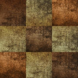 Seamless square tiles of brown color Royalty Free Stock Image