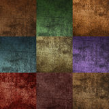 Seamless square tiles of brown color Royalty Free Stock Photos