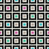 Seamless square tiles colorful pattern Stock Images