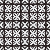 Seamless square vector pattern in monochrome background Royalty Free Stock Photo