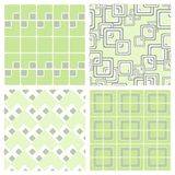Seamless Square Wallpaper. Four different seamless square wallpapers. The color and the geometry gives a retro feeling Stock Photo