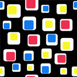 Seamless squares. Seamless  pattern made of bright squares on a black background Stock Images