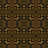 Seamless squares and ellipses pattern orange dark gray Stock Photo