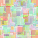 Seamless squares pastel bright pattern background geometric abst Royalty Free Stock Photography