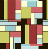 0416_69 seamless. Squares pattern in abstract style. Nice colourful tiles. Seamless Stock Image