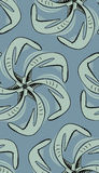 Seamless Squid Pinwheel Royalty Free Stock Photo