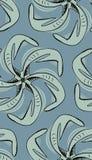 Seamless Squid Pinwheel. Seamless pinwheel pattern background of squid-like arms Royalty Free Stock Photo