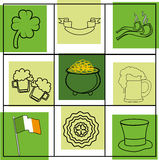 Seamless St.Patrick's day background. Stock Photo