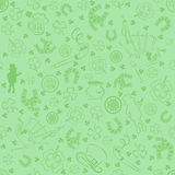 Seamless St.Patrick's day background. Illustration Royalty Free Stock Photos