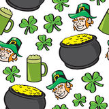 Seamless St. Patricks Day Stuff. A seamless pattern of well known Saint Patricks Day symbols Royalty Free Stock Photography