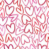 Seamless for St. Valentine's Day with hearts Royalty Free Stock Images
