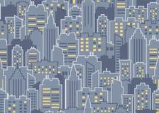 seamless stadsmodell vektor illustrationer