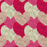 Seamless Stained Glass Hearts. Stained glass patterned hearts background Royalty Free Stock Photography