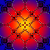 Seamless stained glass pattern background Stock Photography