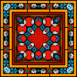 Seamless Stained Glass patterned window Stock Photo