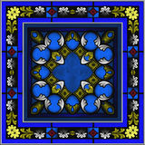 Seamless Stained Glass patterned window Royalty Free Stock Photography