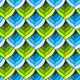 Seamless stained glass scales background Royalty Free Stock Photo