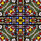 Seamless stained glass square Tile Stock Photos