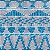 seamless stam- för modell Etniska och aztec motiv Grunge textur Royaltyfri Bild