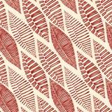 Seamless stam- mönstrar lämnar skelett Arkivfoto