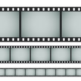 Seamless standard 35mm photo film. Seamless standard 35mm photo or movie film isolated on white background. Vector illustration Royalty Free Stock Photography